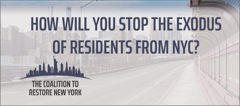 How Will You Stop the Exodus of Residents from NYC? - Facebook Cover Photo