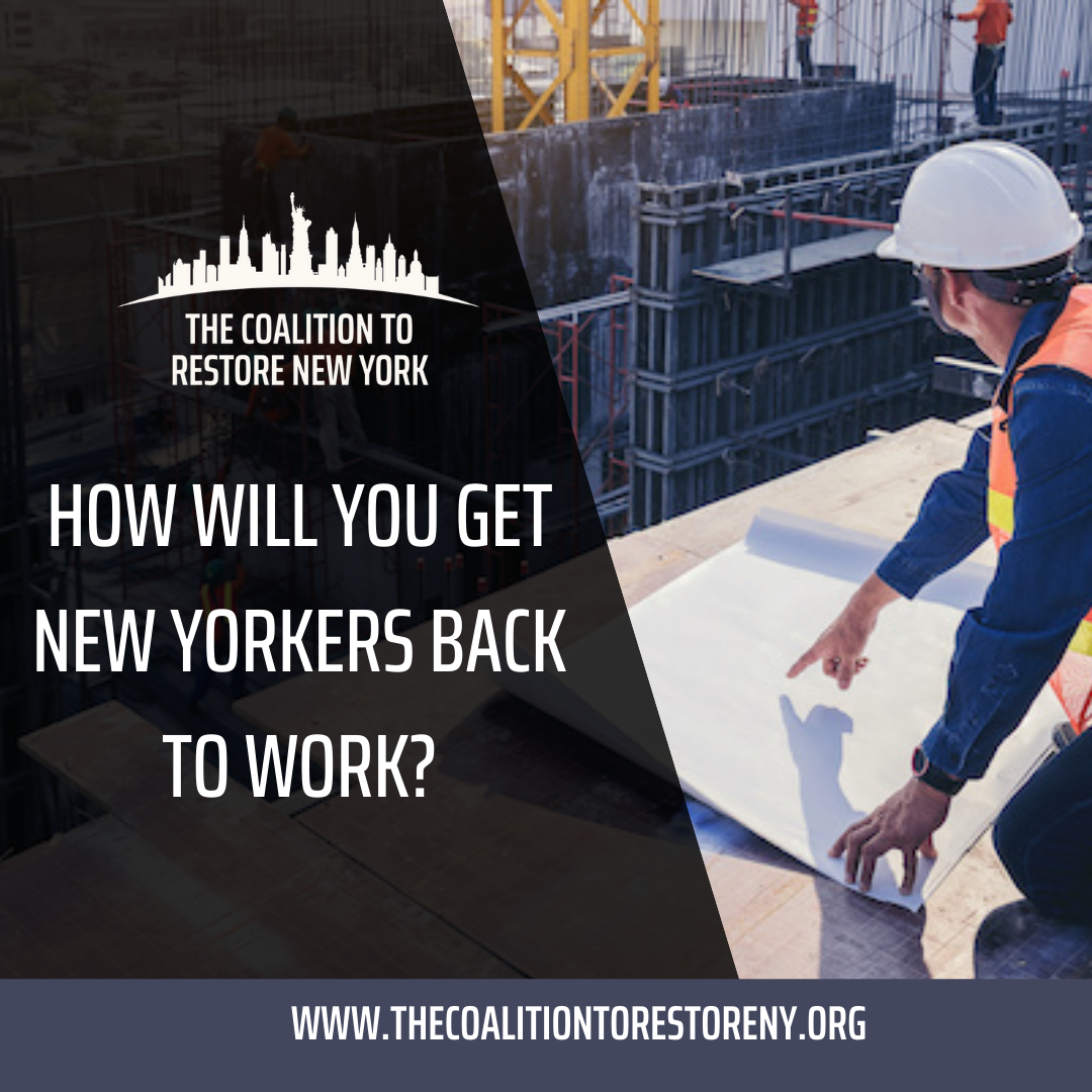 How Will You Get New Yorkers Back to Work? - Instagram and Twitter Post