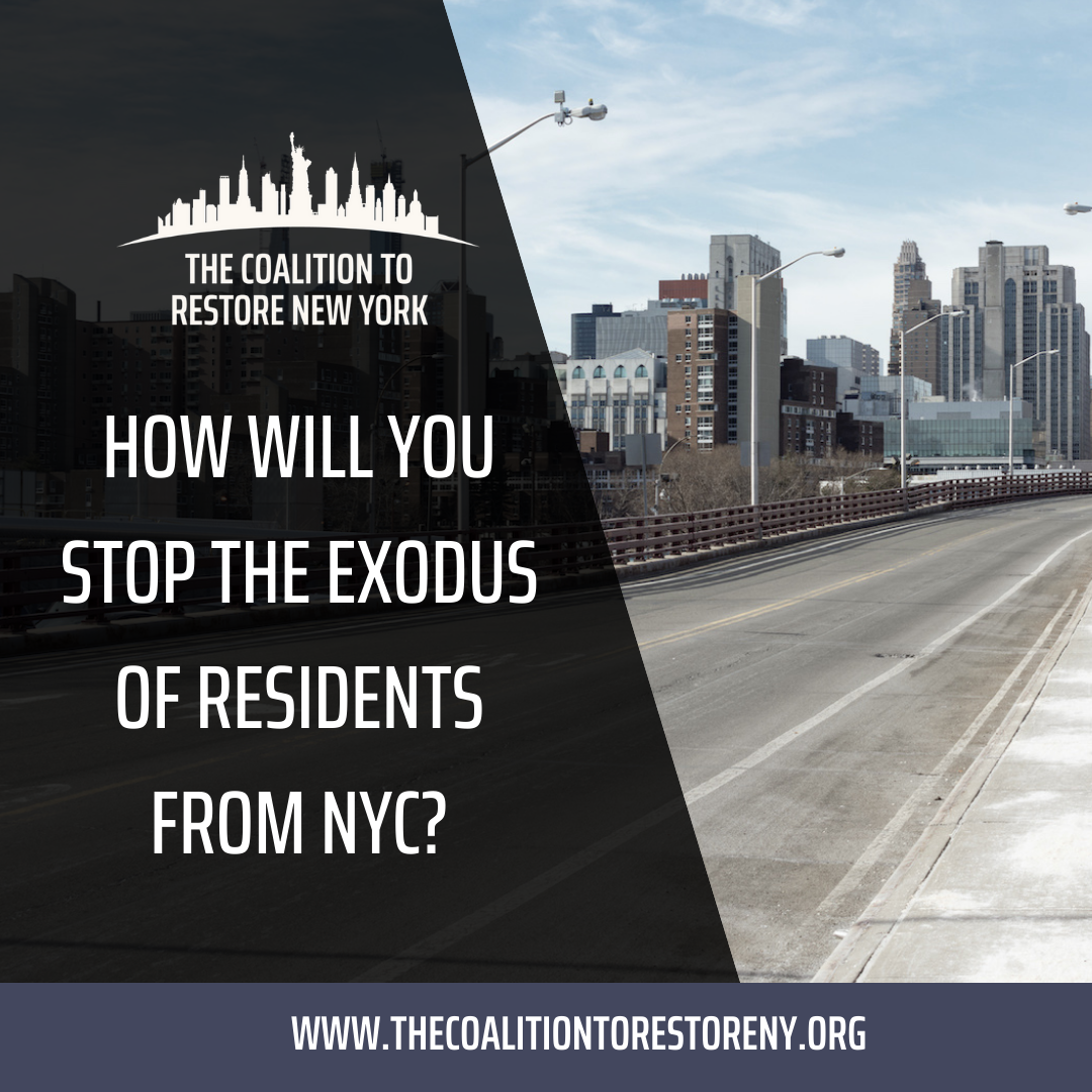 How Will You Stop the Exodus of Residents from NYC? - Instagram and Twitter Post