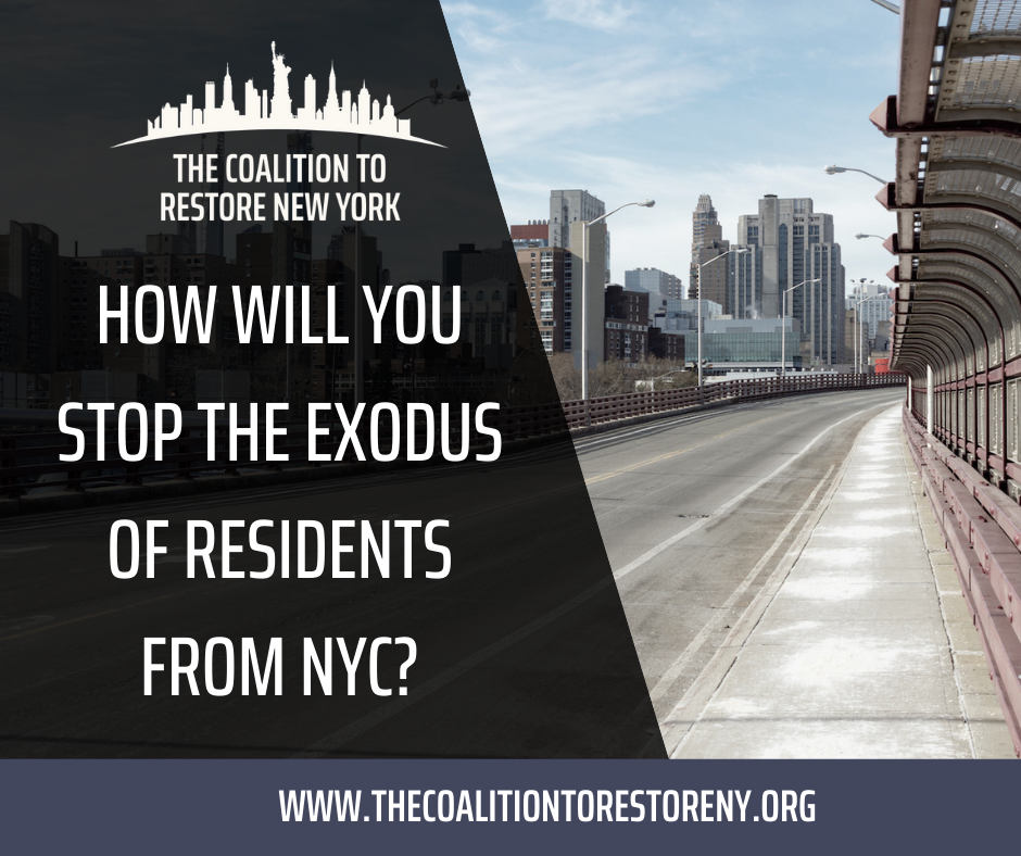 How Will You Stop the Exodus of Residents from NYC? - Facebook Post