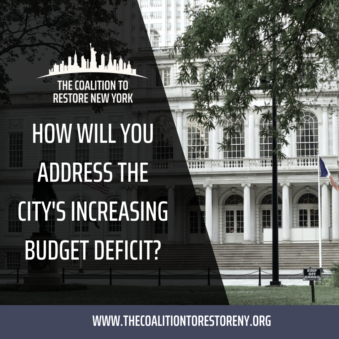 How Will You Address the City's Increasing Budget Deficit? - Instagram and Twitter Post