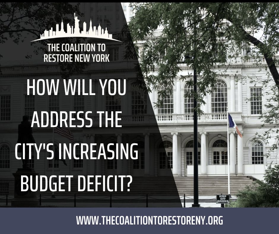 How Will You Address the City's Increasing Budget Deficit? - Facebook Post